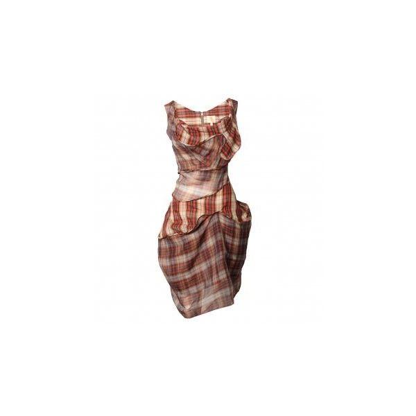 Vivienne Westwood Gold Label Gemel Dress Tartan (£1,200) ❤ liked on Polyvore