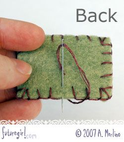 futuregirl craft blog : Fabulous Tutorial: Hand Sewing Felt