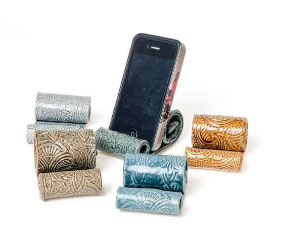 ceramic cell phone holder parkmiphone business card