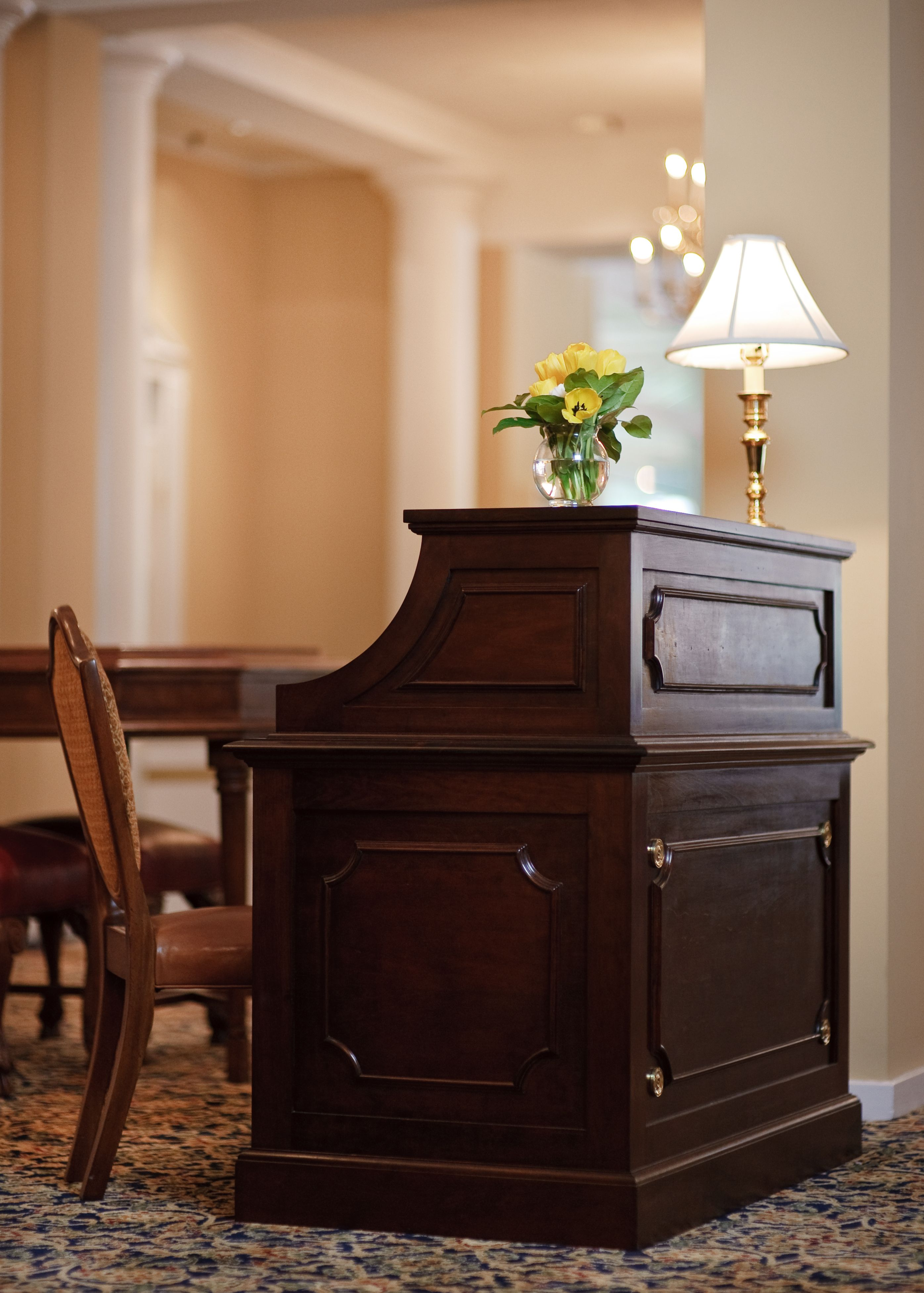 Hotel Room Desk: I Was Inspired By An Antique Roll Top Desk In Designing