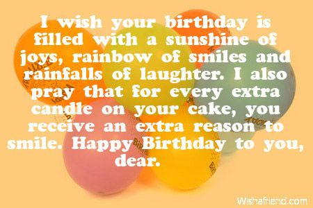 I wish your birthday is filled with a sunshine of joys rainbow of – Best Greeting for Birthday