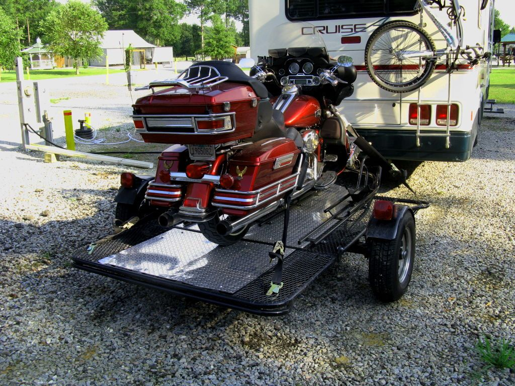Style Newest 3 Place Motorcycle Trailer