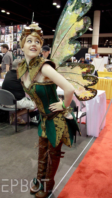 Steampunk Tinkerbell Cosplay - Fabricator: Firefly Path - Cosplayer/Model: Madeline Masquerade - Photographer: EPBOT (848×1500)