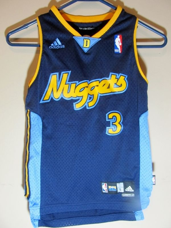 buy popular 0c408 37b29 Adidas Allen Iverson Denver Nuggets jersey , Youth small ...