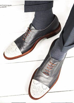 Lanvin two-tone brogues