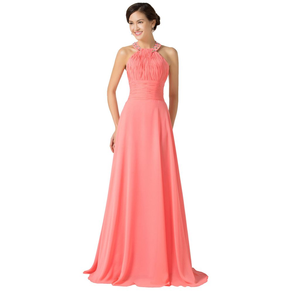 Chiffon watermelon long bridesmaid dress shops chiffon and dresses chiffon watermelon long bridesmaid dress ombrellifo Image collections