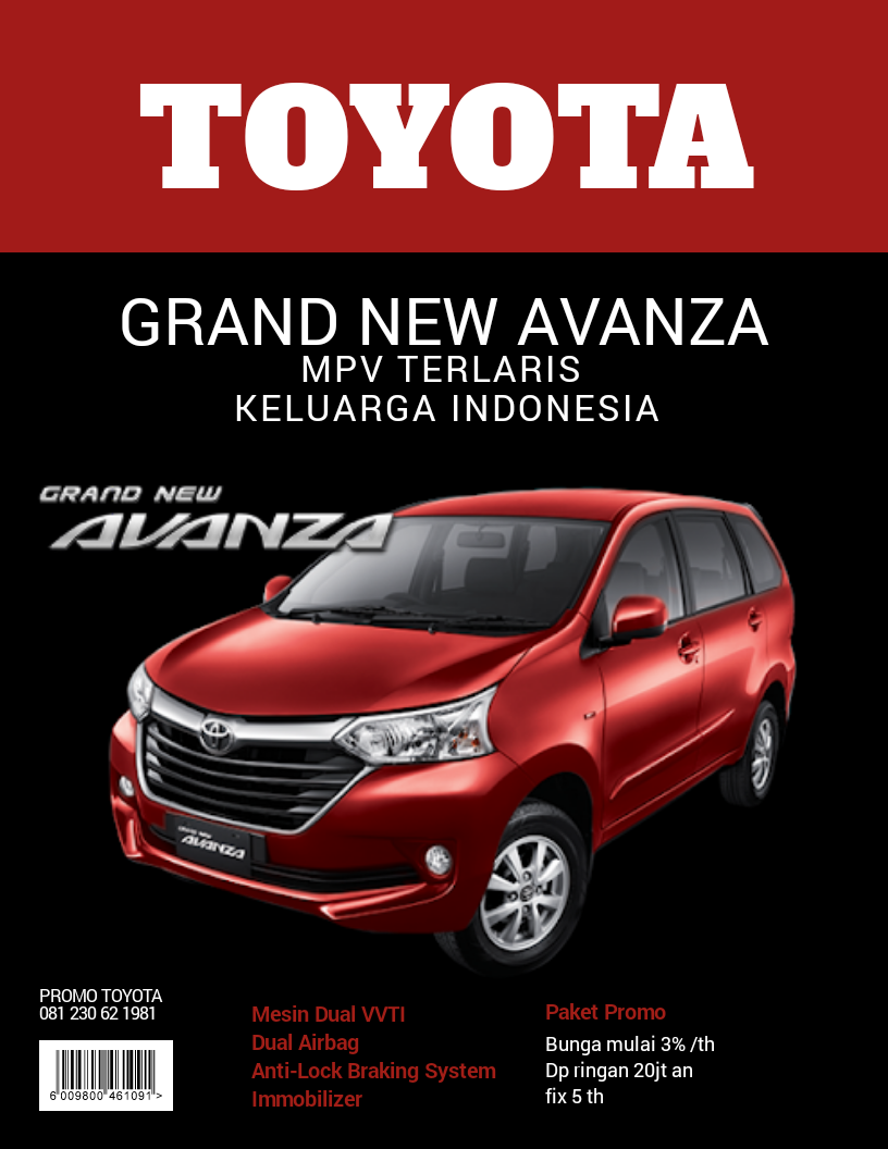 Grand New Avanza Tipe E Abs Grandnew Mpv Terlaris Keluarga Indonesia Mesin Handal Dual Vvti Lengkap Dgn Srs Airbag Dan