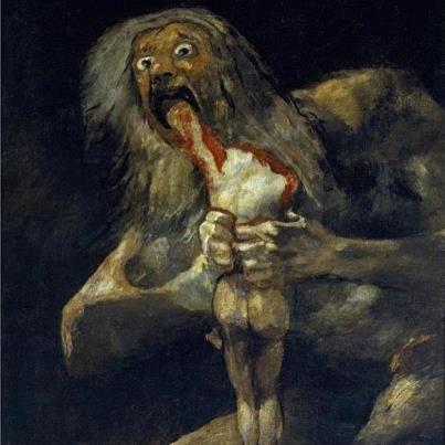 Saturn Devouring His Son By Goya Location Museo Del Prado In