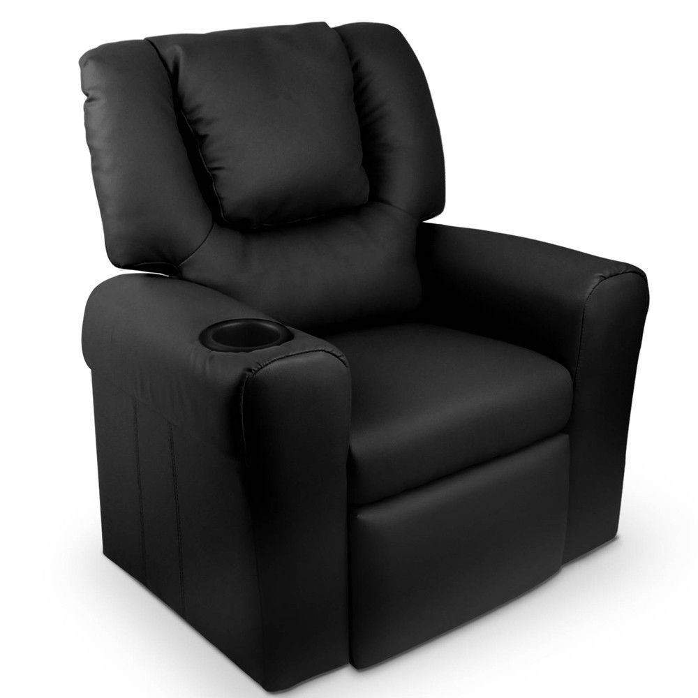 Pleasant Kids Padded Pu Leather Recliner Chair Black Available At Pabps2019 Chair Design Images Pabps2019Com