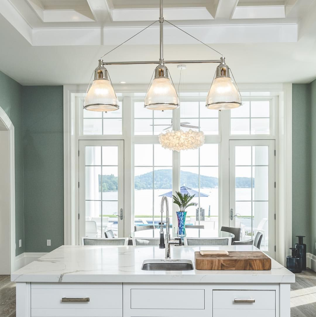 Window for kitchen  love this kitchen designwho wouldnut enjoy a lake view from the