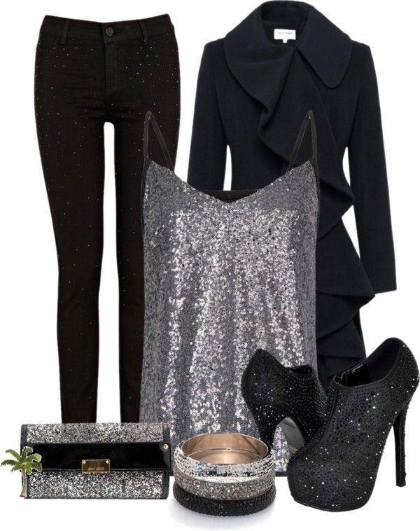 """""""Sparkle Sparkle"""" by cindycook10 on Polyvore, I'd skip the shoes and purse but love everything else.."""