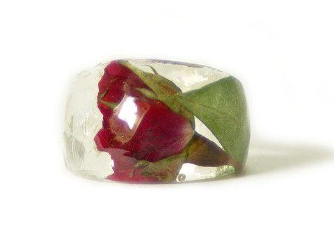 Handmade Red Rose resin Ring. Frome Faeriemagazine.com for $40... <3