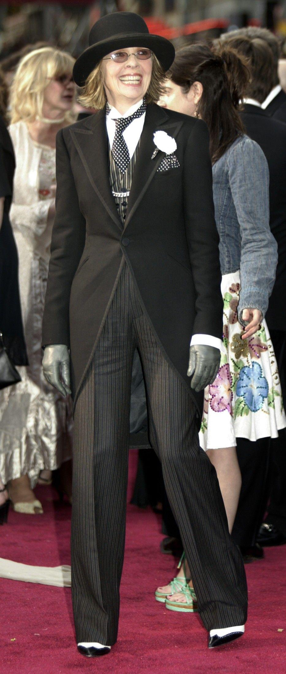 Diane keaton Best actress oscar ve Oscar dresses t