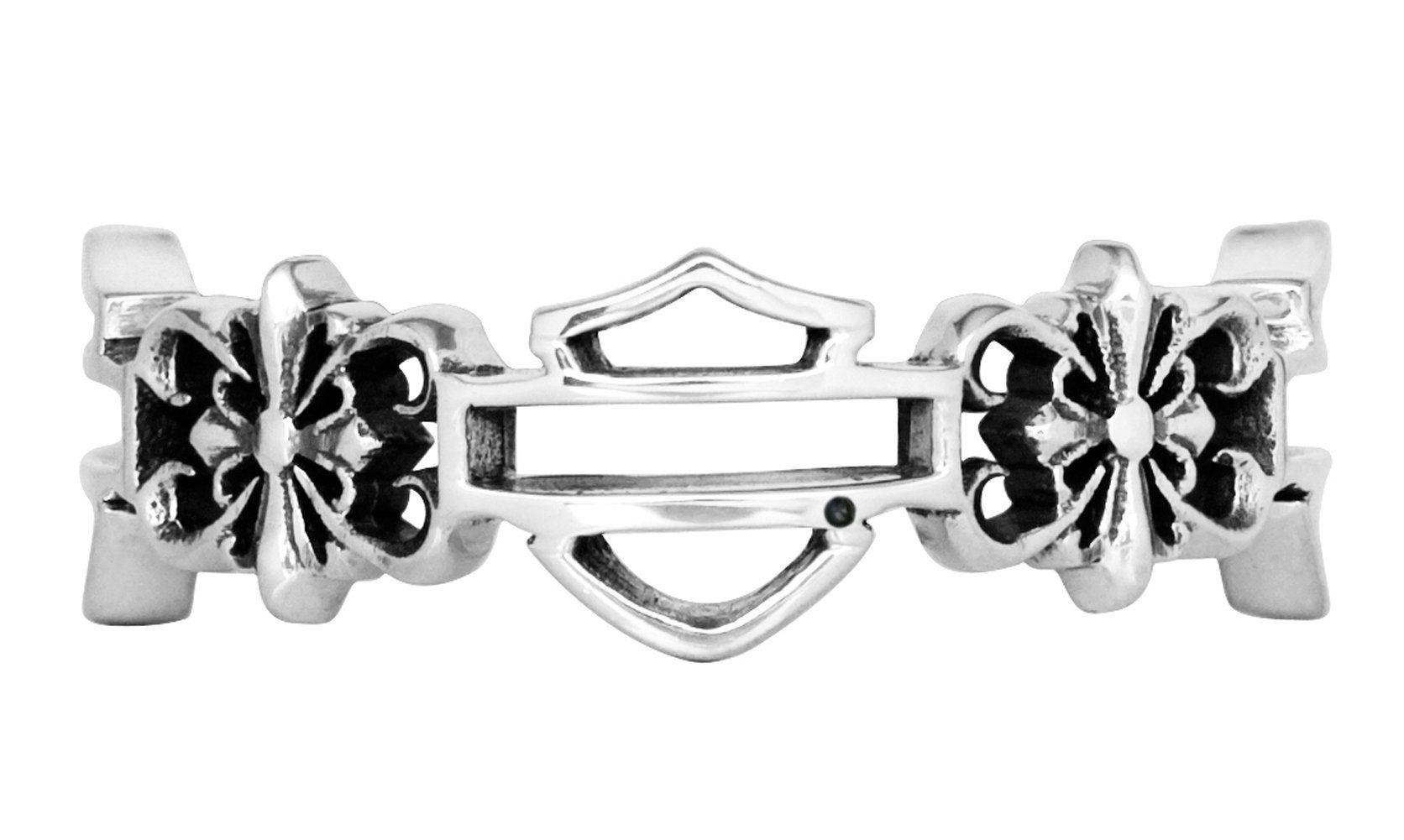HarleyDavidson Womens .925 Silver Filigree Cross Band