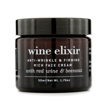 Apivita Wine Elixir Anti-Wrinkle and Firming Rich Face Cream 1.76 oz. by Apivita. $39.99. A rich, natural anti-aging cream. Apivita Wine Elixir Anti-Wrinkle and Firming Rich Face Cream uses red wine to dramatically reduce even the deepest wrinkles, while natural plant oils and oat intensely hydrate and nourish the skin. Enriched with essential oils, this cream tones the skin and also calms the senses.. Save 20% Off!