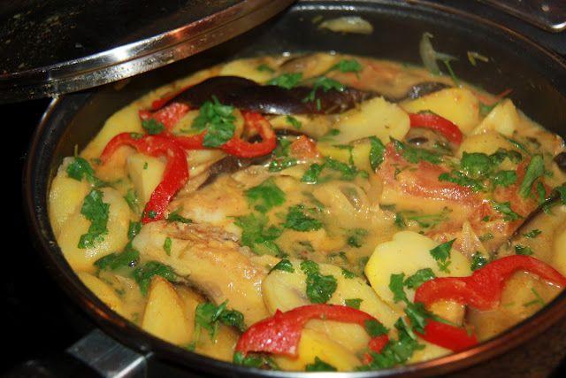 'Bacalhau na Caçarola' - cod in the casserole. Another pleasant way of enjoying cod. :)