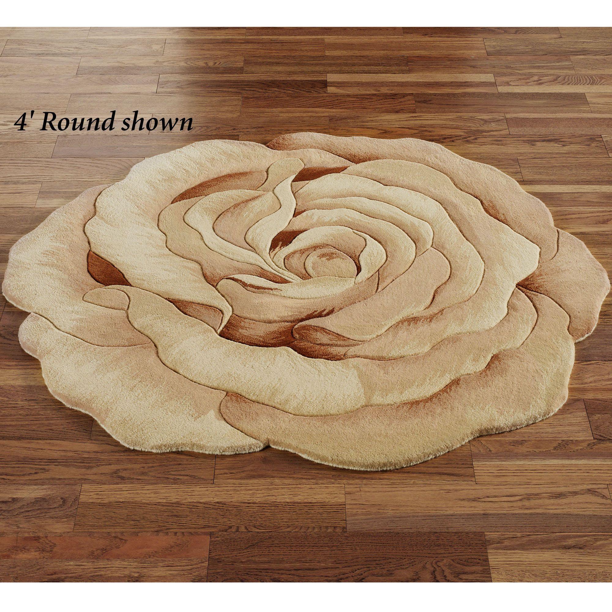 Rosetta Round Flower Rug