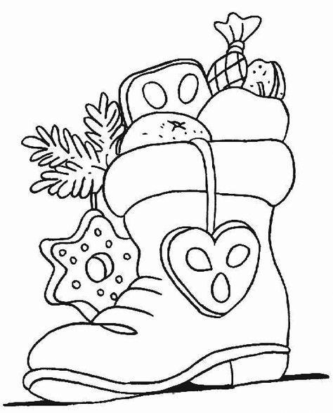 Nikolausstiefel Drawing Malvorlagen Weihnachten