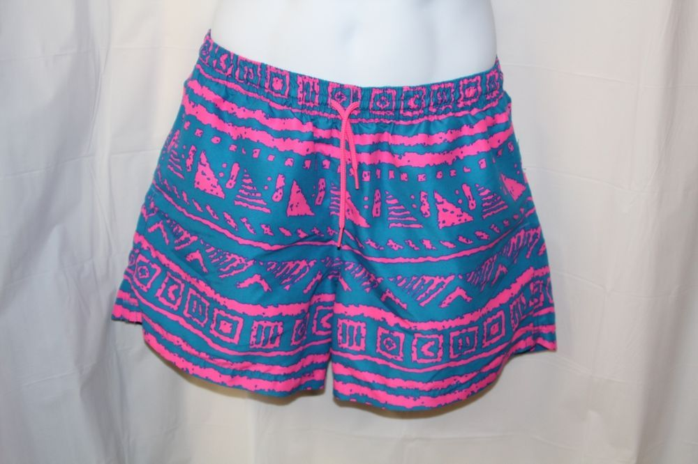 7cc15d6af9 Chubbies Men's Medium Blue Pink Funky 80's Retro Shorts / Swim Trunks New  Rare #Chubbies #Athletic