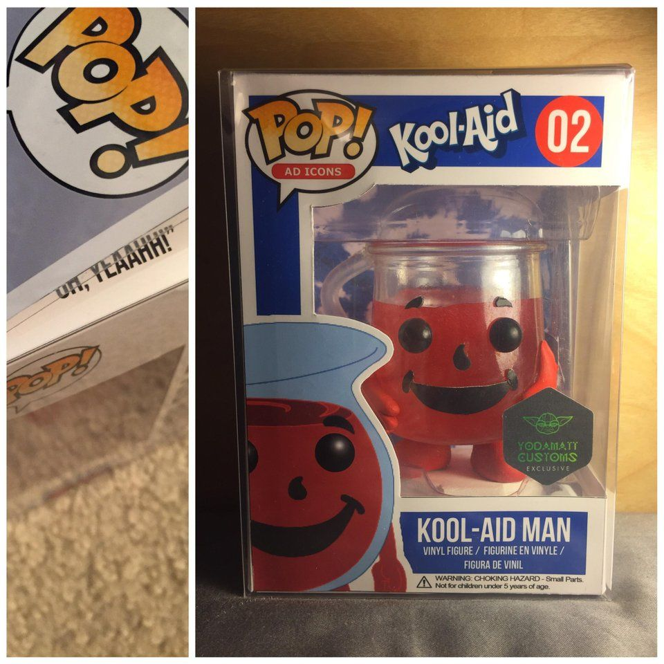 Custom Update Here S An Look At My Custom Kool Aid Man With The Insert There S Also His Famous Quote On The Inner Flap Kool Aid Kool Aid Man Vinyl Figures