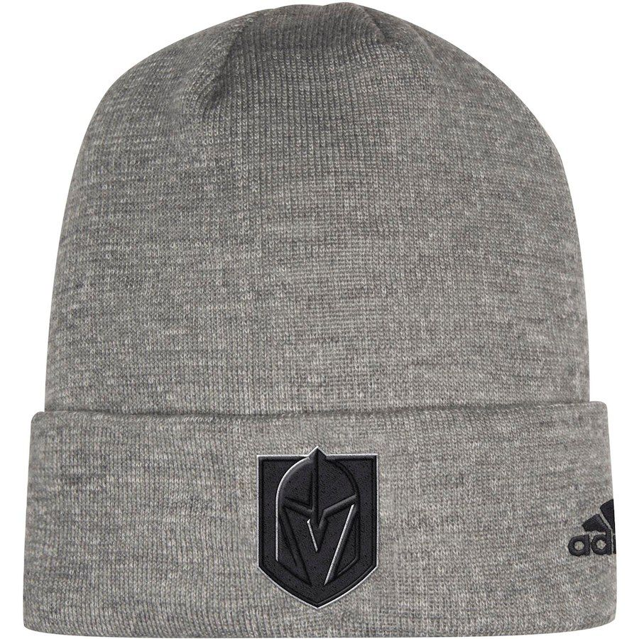 c2839e89785 Men s Vegas Golden Knights adidas Charcoal India Cuffed Knit Hat ...