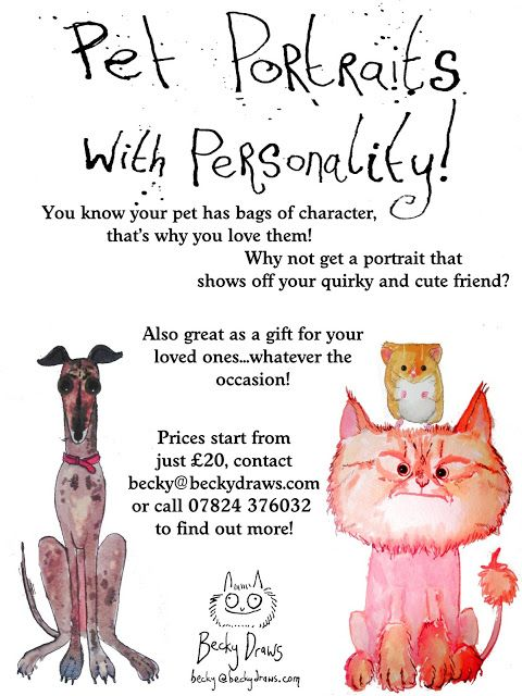 Looking for a quirky gift or tribute to your pet? Get in touch with me!