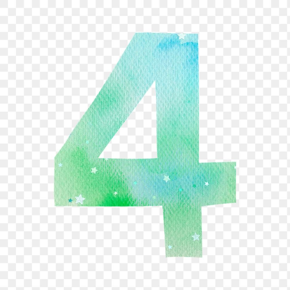 Number 4 Pastel Font Png Watercolor Texture Typography Free Image By Rawpixel Com Marinemynt Watercolor Texture Typography Free Png