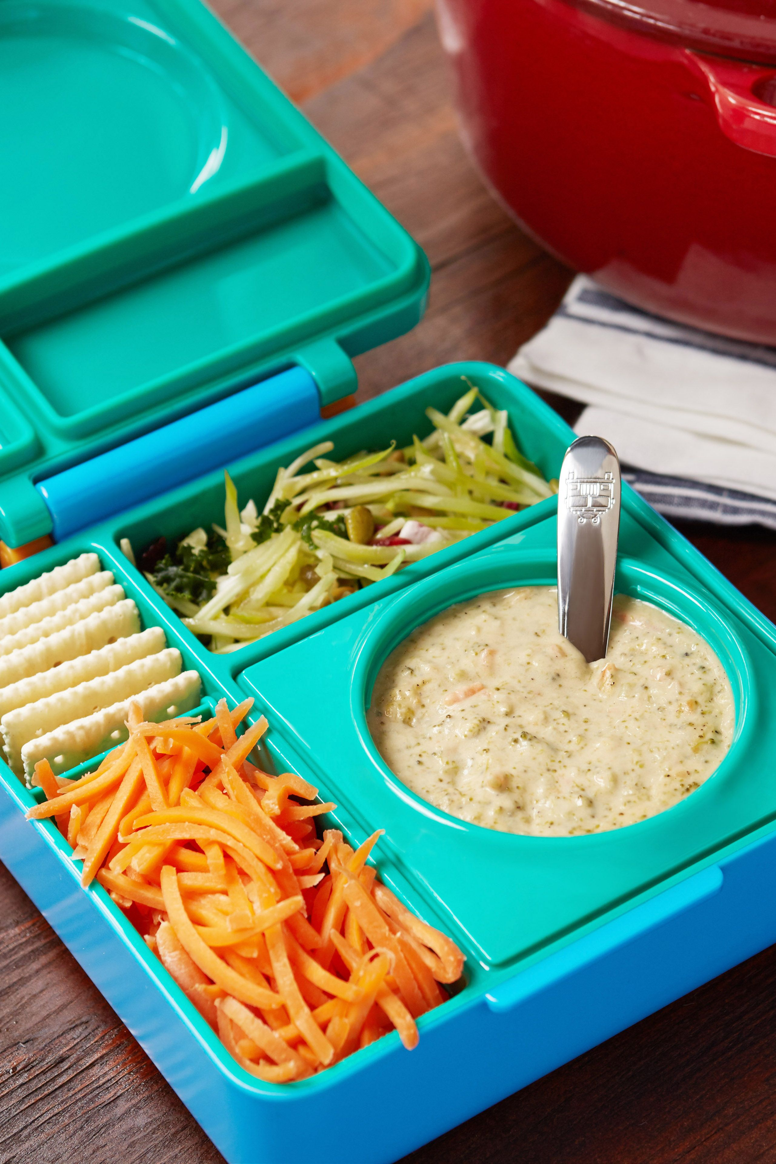 Broccoli cheddar soup lunchbox ideas omielife omiebox