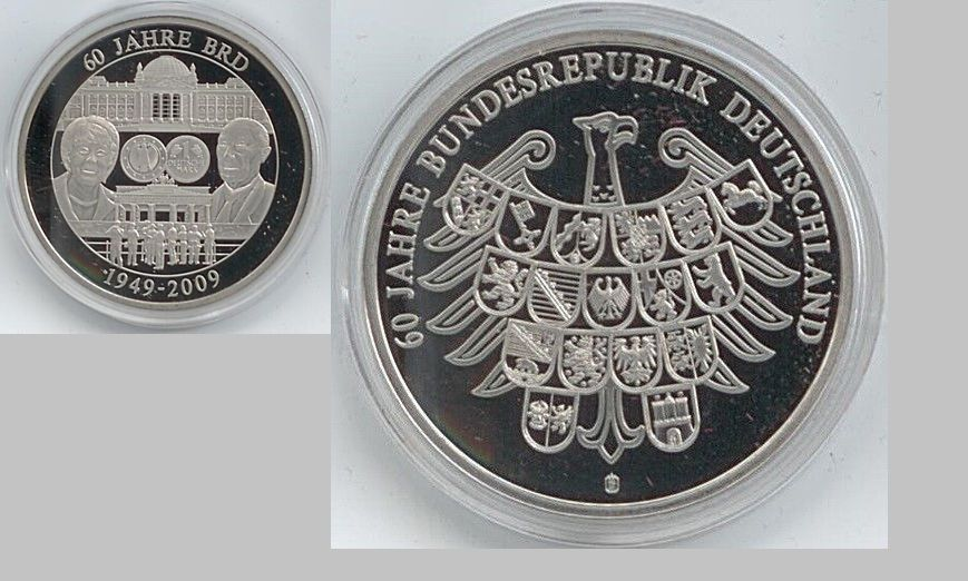 Medaille 60 Jahre Bundesrepublik Deutschland 1949 2009 40 Mm 28 Gr B51
