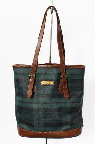 b9570dd80a4 Polo Ralph Lauren Black Watch Plaid   Leather Bucket Bag   MY STYLE ...