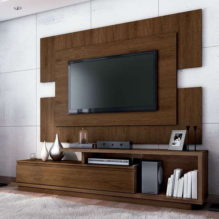 Led tv rack furniture in 2019 tv wall decor tv wall - Led panel designs furniture living room ...