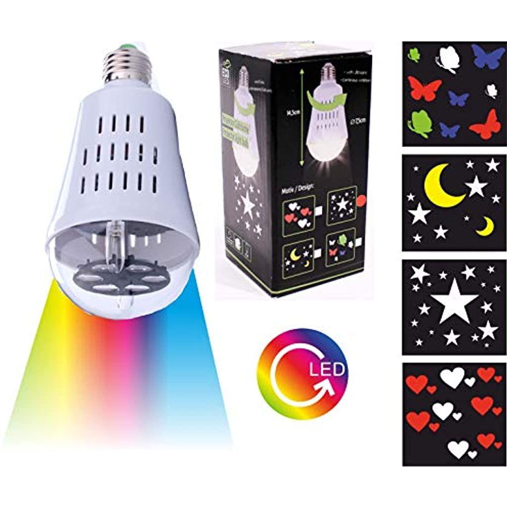 4 X Led Gluhbirne Mit Motiv Bild Projektion E27 Deko Lampe Nachtlicht Kinderzimmer 4 Motive Herzen Sterne Mon In 2020 Nachtlicht Kinderzimmer Led Gluhbirnen Nachtlicht
