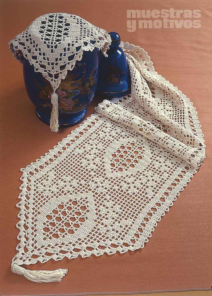 Caminos de mesa tejidos a crochet con patrones car - Patrones tapetes ganchillo ...