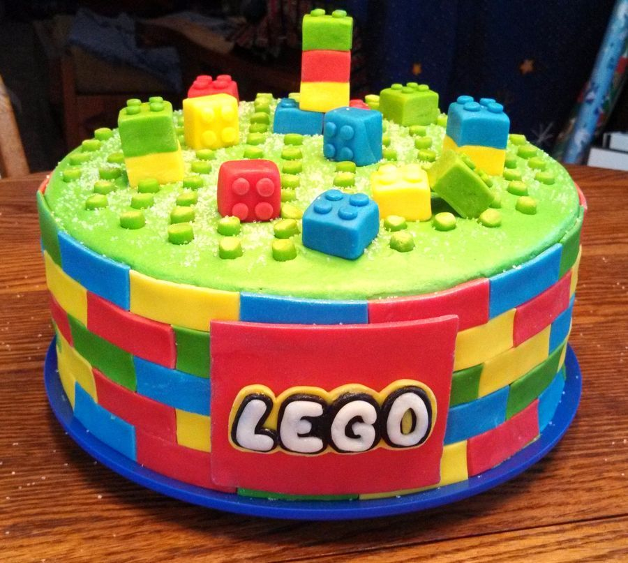 Lego cake The mother sent me a photo of the cake she wanted I