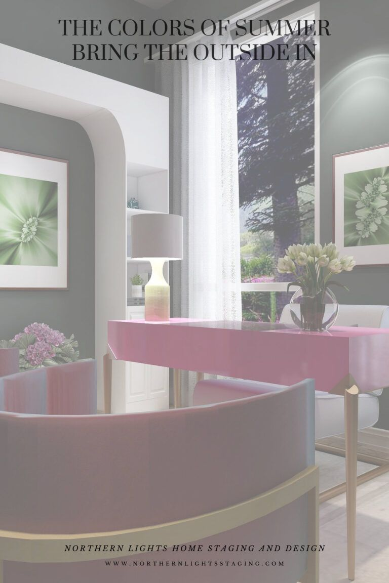 The colors of summer, Bring the outside in with your Interior Design.