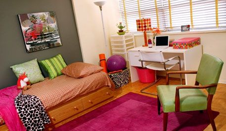 Creating A Colorful Dorm Room - Design Dazzle