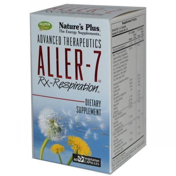 το προϊόν NATURE'S PLUS ALLER-7 RX-RESPIRATION VCAPS 60 για την προληψη της αλεργικης ρινιτιδας ειναι καταλλαλο και σε διαφορες περιπτωσεις άσθματος..