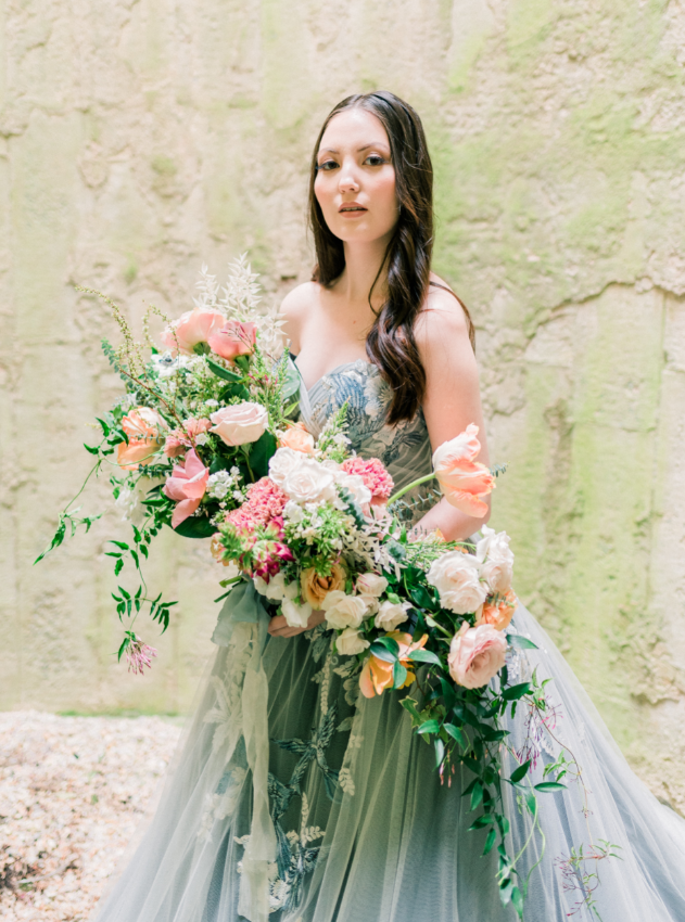 Mauve And Blush Wedding With Oversized Or Large Wedding Bouquet