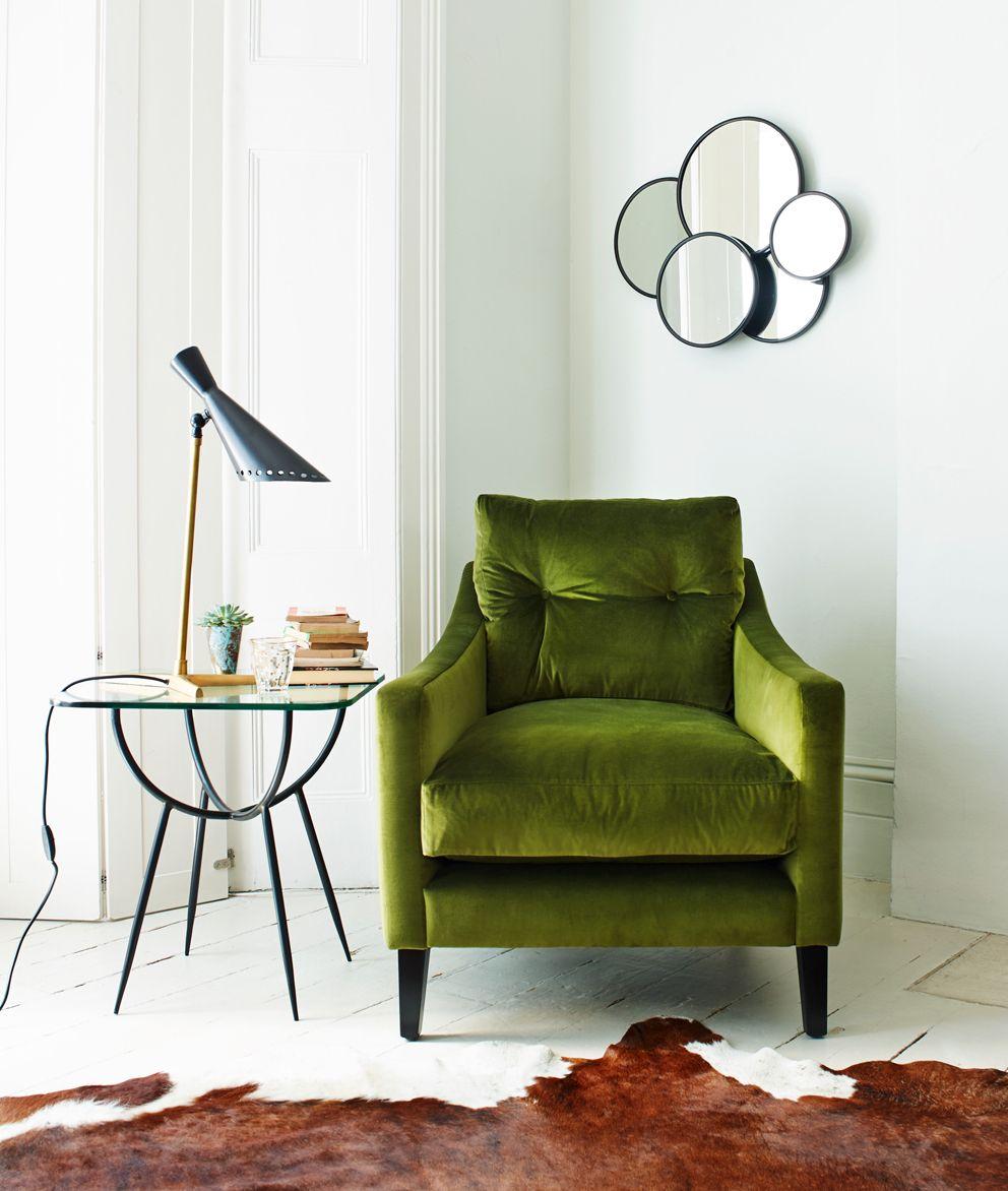 Graham And Green всякость Green Velvet Armchair