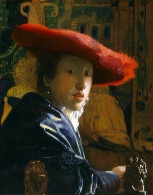 vermeer...girl in a red hat...a favorite