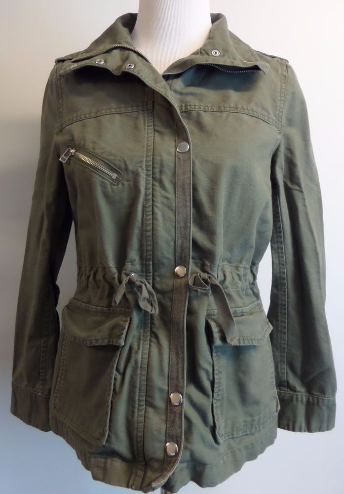 38 Green Militaryhm Women Coat H amp;m Sz Army Jacket Small wPXn0NkOZ8