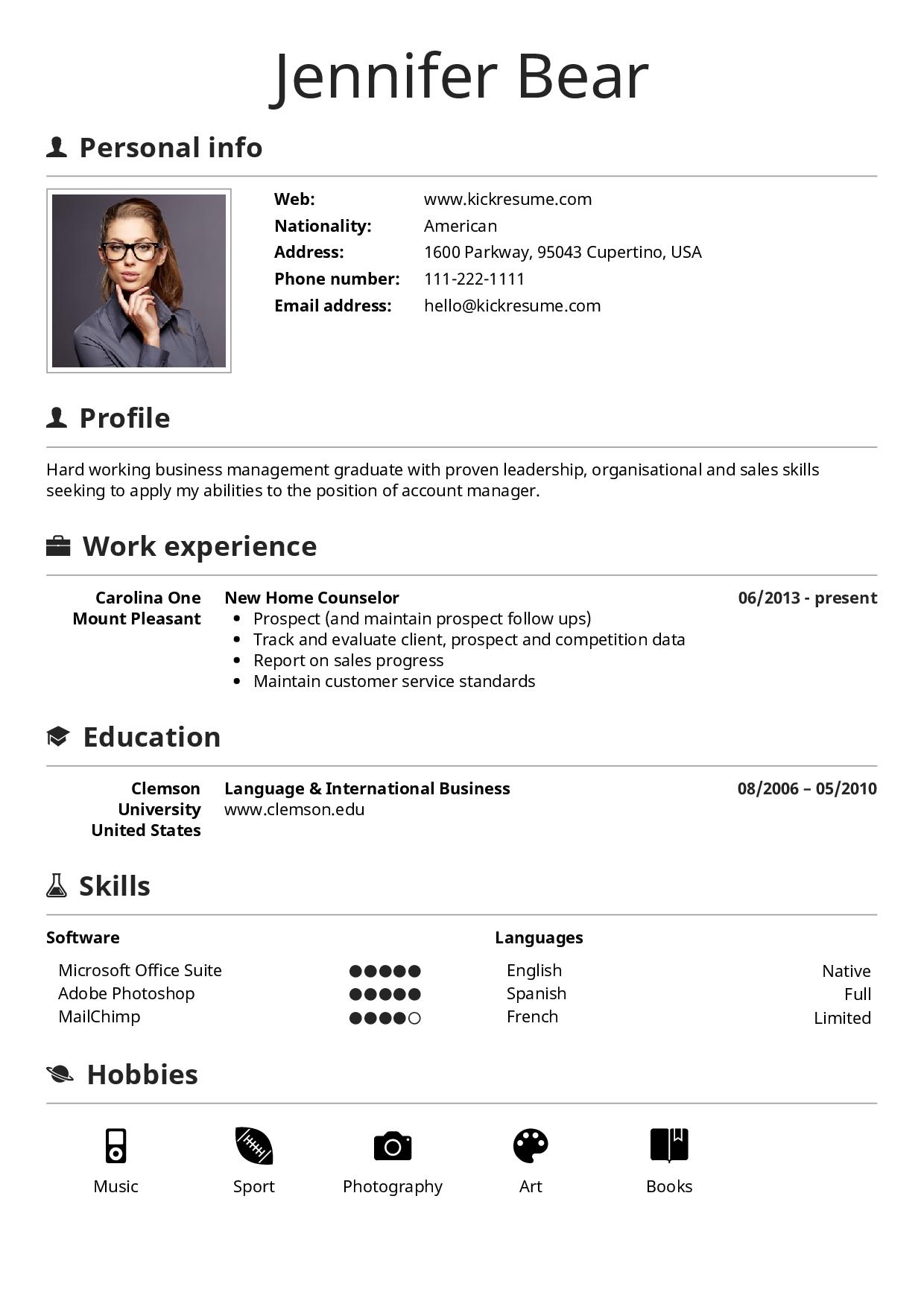 Kickresume My CV in 2020 Sales skills, Cover letter