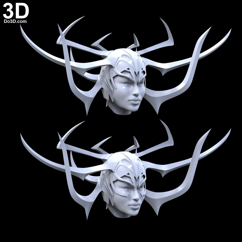 2017 Movie Thor 3 Ragnarok Hela Pvc Cosplay Masks Black Horns Queen Helmets Women Halloween Props Party Novel In Design;