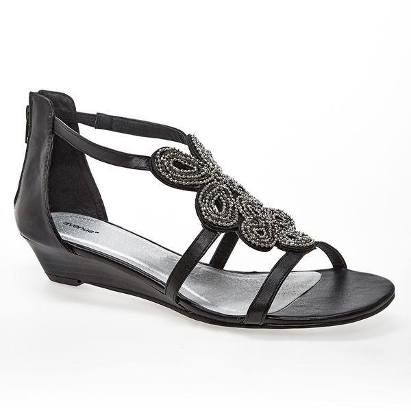 72ea059f0a5f Karlie Beaded Wedge Sandal-Wide Width Sandal-Avenue