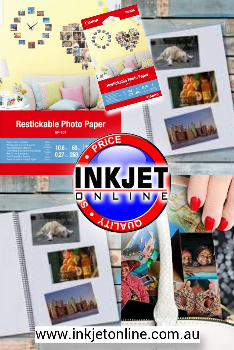 Canon RP101 Restickable Photo Paper 4x6 5 sheets in