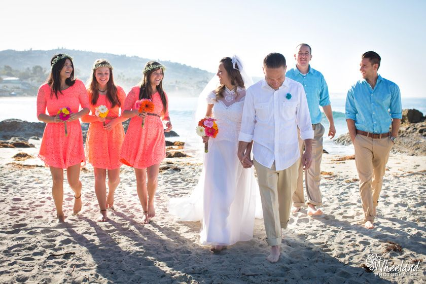 Laguna Beach Las Brisas Morning Wedding C Bridesmaids Dresses
