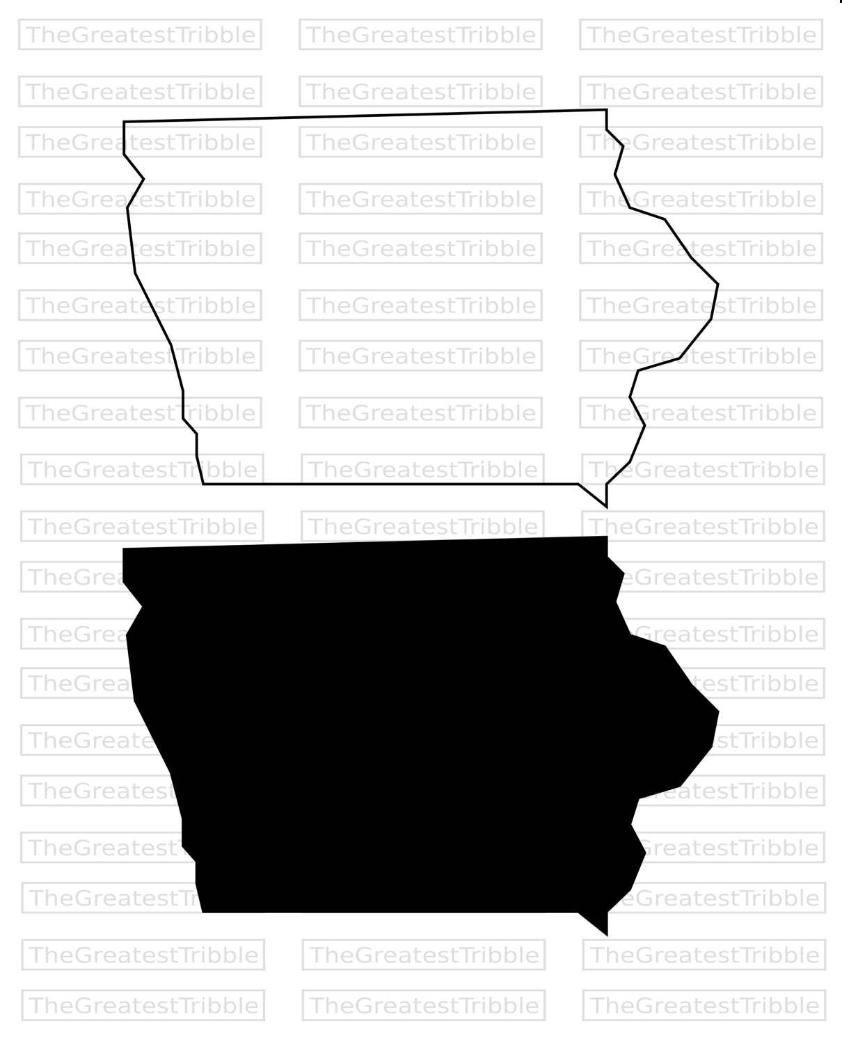 Iowa State Map SVG PNG JPG Vector Graphic Clip Art Iowa