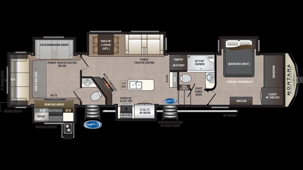 Montana High Country 362rd Floor Plan 2020 001 In 2020 Rv Floor Plans Floor Plans Keystone Montana