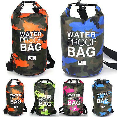 Photo of Advertisement(eBay) Camouflage Waterproof Storage Sack Bags Outdoor Kayaking Fis…