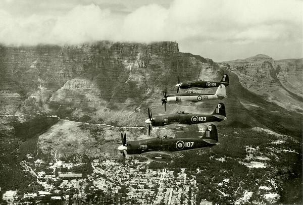 Sea Fury FBII in formation in 1948 is just EPIC!Pic by EduPlessis